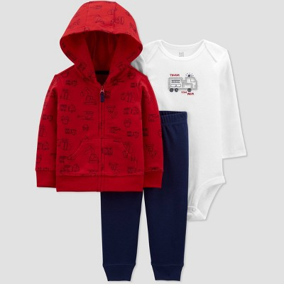 Baby Boys' Rescue Long Sleeve Top & Bottom Set - Just One You® made by carter's Red Newborn