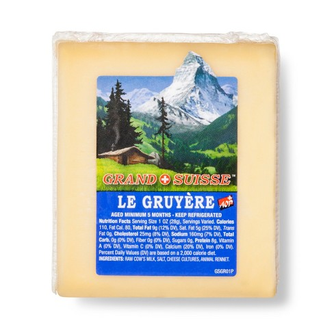 Grand Suisse Gruyere Cheese - 8oz - image 1 of 1