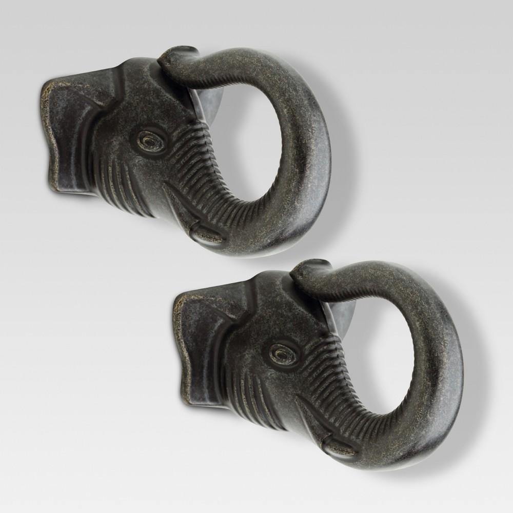 Elephant knob - 2 - pack - Threshold, Grey