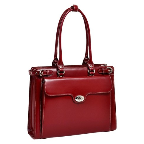 "McKlein Winnetka 15"" Leather Ladies' Laptop Briefcase (Red) - image 1 of 1"