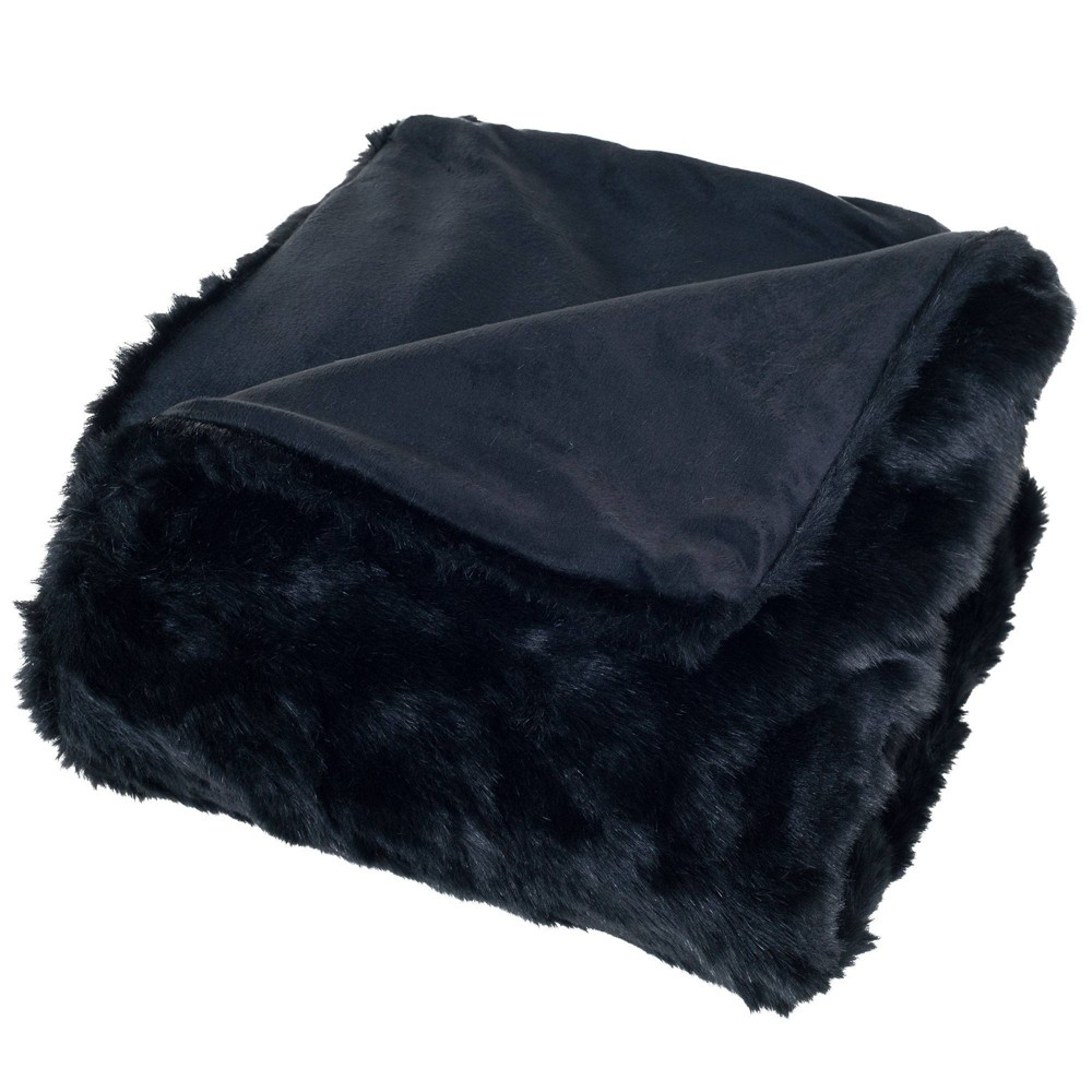 """Best 60""""x50"""" Luxury Long Haired Faux Fur Throw Blanket  - Yorkshire Home"""