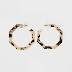 SUGARFIX by BaubleBar Geometric Resin Hoop Earrings