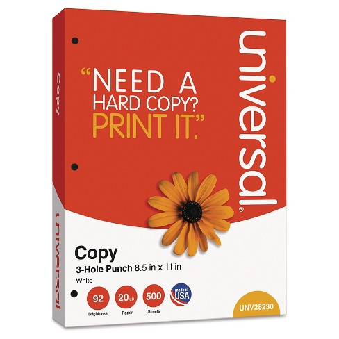 "Universal® Copy Paper, 8-1/2"" x 11"", 5000 ct - White - image 1 of 2"