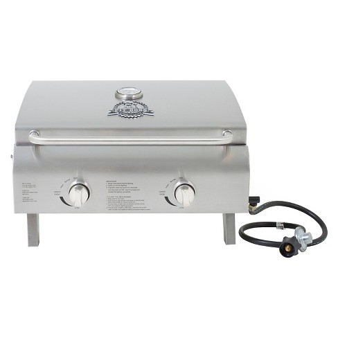 Two Burner Stainless Steel Portable Lp Gas Grill Model 75275 Pit Boss Target