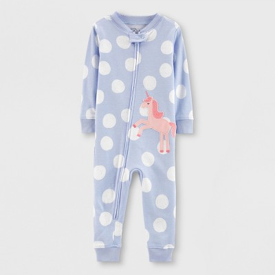 Little Planet Organic by carter's Baby Girls' Sleep Coverall - Blue 12M