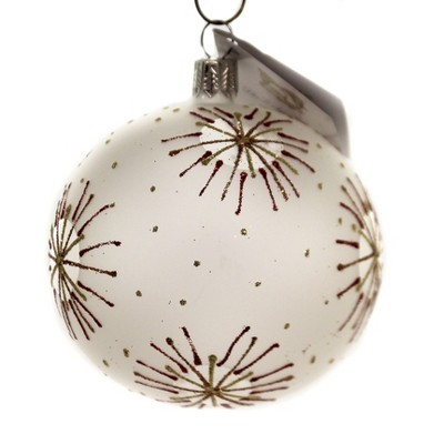"""Golden Bell Collection 3.25"""" Red & Gold Starburst Ornament July 4Th Christmas  -  Tree Ornaments"""