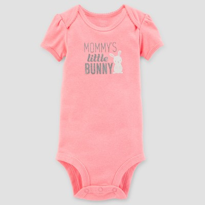 Baby Girls' Mommy's Little Bunny Bodysuit - Just One You® made by carter's Pink Newborn