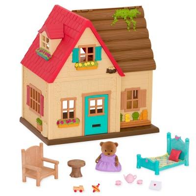 Li'l Woodzeez Toy House with Animal Figurine 15pc - Sunny Acres Country House