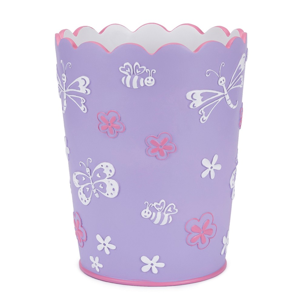 Butterfly Wastebasket Purple - Kassatex