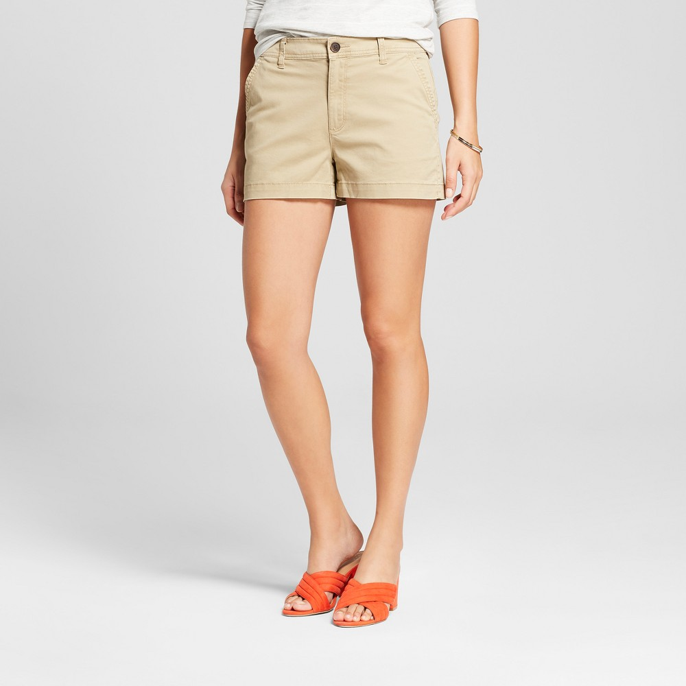 Image of Women's 3 Chino Shorts - A New Day Tan 0