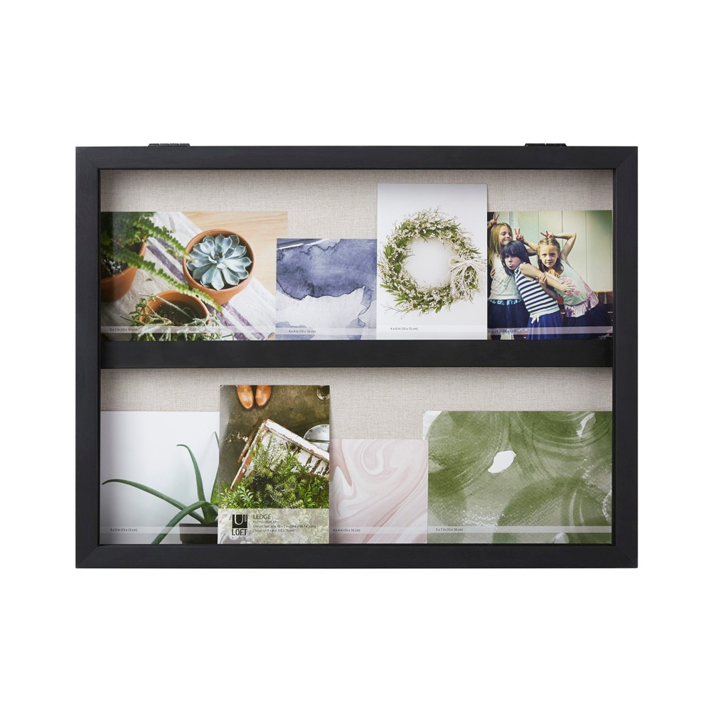 "Image of ""20""""X15"""" Ledge Landscape Photo Display Black - Loft By Umbra"""