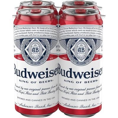 Budweiser Lager Beer - 4pk/16 fl oz Cans