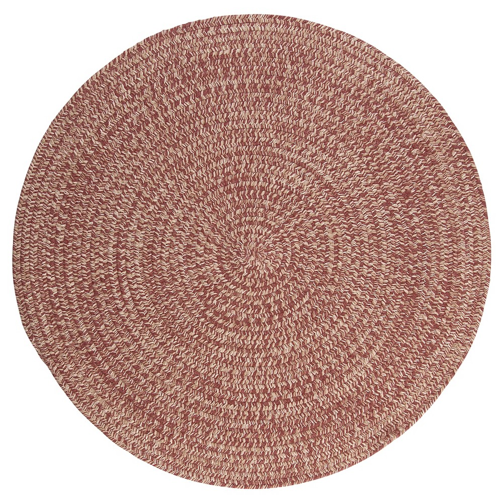 Tremont Braided Accent Rug - Rosewood - (4' Round) - Colonial Mills