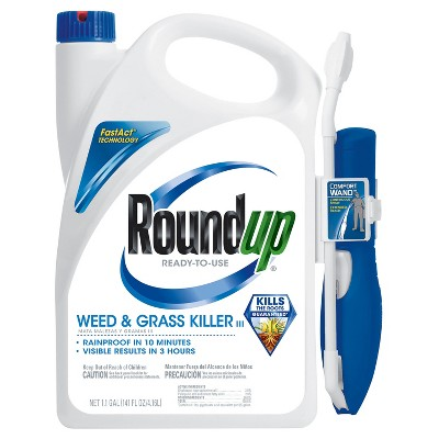 Roundup Weed & Grass Killer 1.1 Gallon Ready to Use Wand