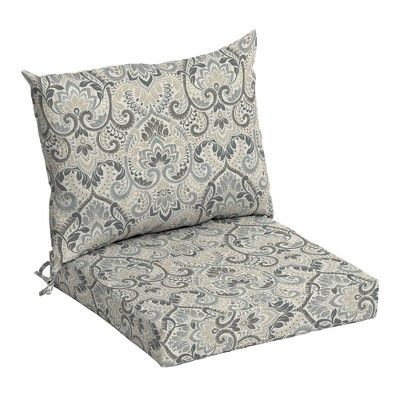 Arden Selections Outdoor Dining Chair Cushion Set Aurora Damask