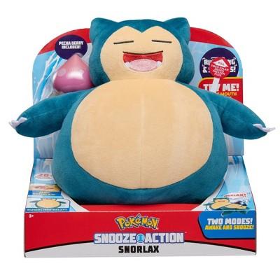Pokemon- Feature Plush (Snooze Action) - Snorlax