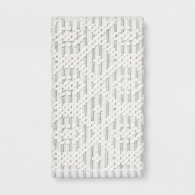 Striped Diamond Hand Towel Sour Cream - Threshold™