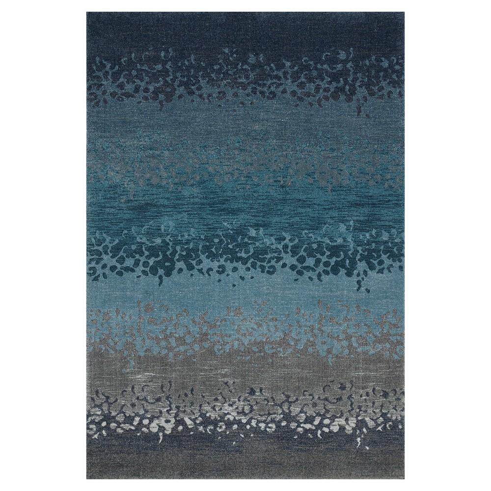 5 3 X7 7 Blue Gray Multi Stripe Woven Area Rug Addison Rugs