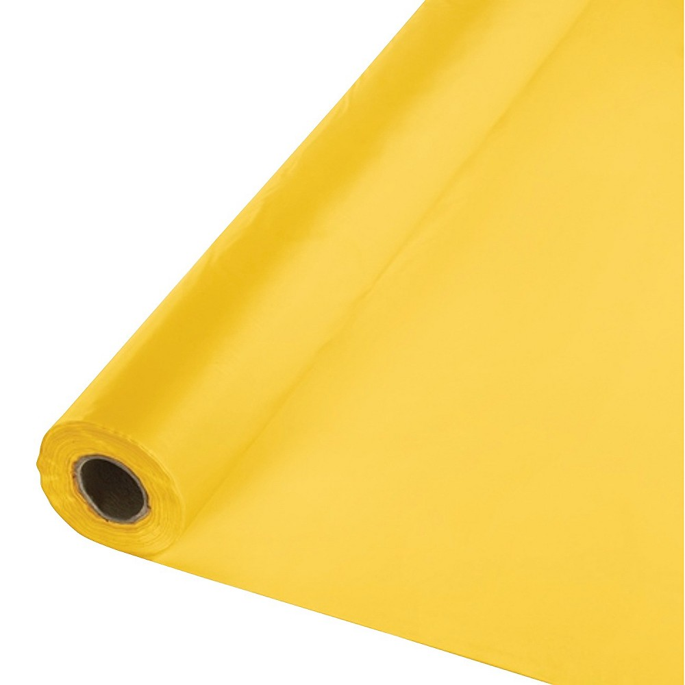 School Bus Yellow Disposable Tablecloth