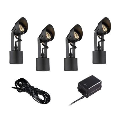 Super Duty Black 6-Piece LED Landscape Lighting Set