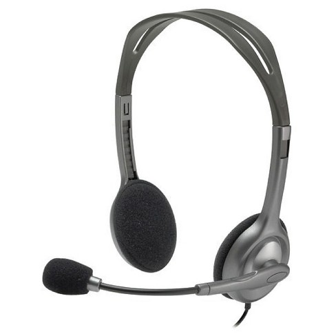 Logitech Wired Stereo Headset H111 - Gray - image 1 of 4