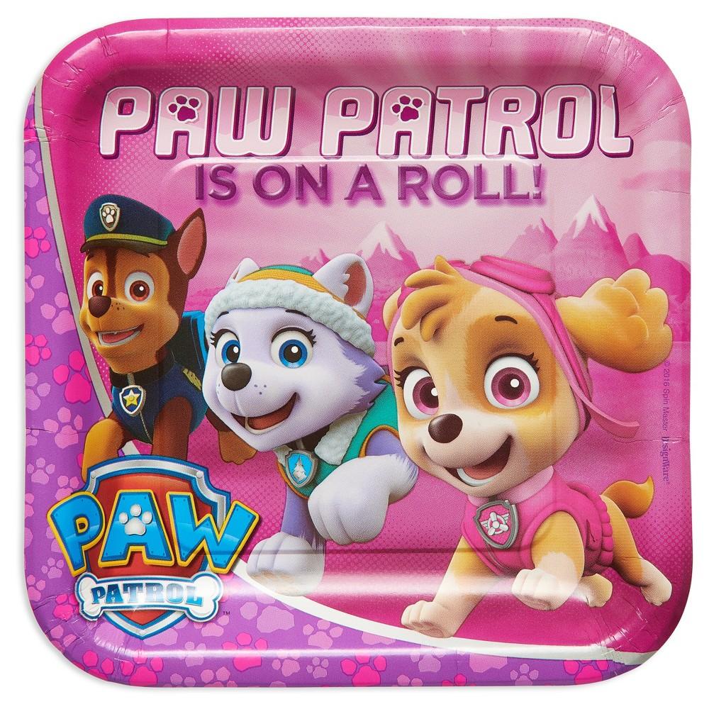 Paw Patrol Girl 9 Paper Plate - 8ct