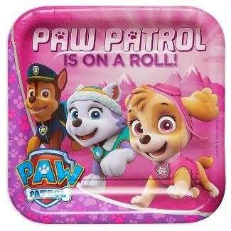 "Paw Patrol Girl 9"" Paper Plate - 8ct"