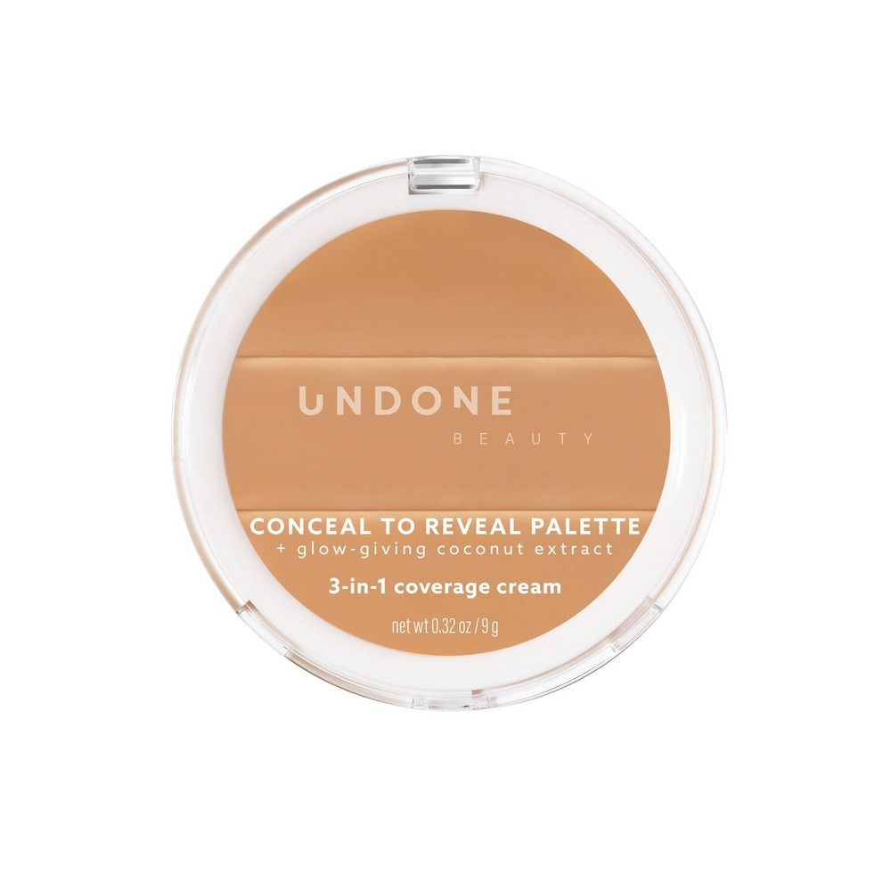 Image of UNDONE BEAUTY Conceal to Reveal 3-in-1 Palette - Almond Latte Medium - 0.32oz