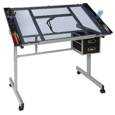 OneSpace 50-CS01 Craft Station in Silver with Blue Glass