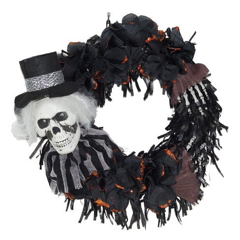Halloween Tophat & Rose Wreath - image 1 of 1