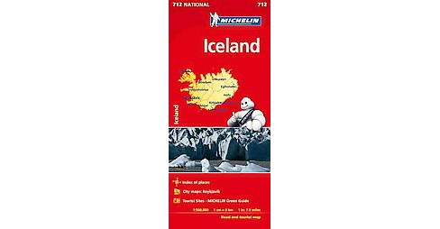 Michelin Iceland ( Michelin Map) (Sheet Map, folded) - image 1 of 1
