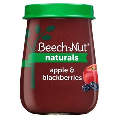 Beech-Nut Naturals Apple & Blackberry Baby Food Jar - 4oz