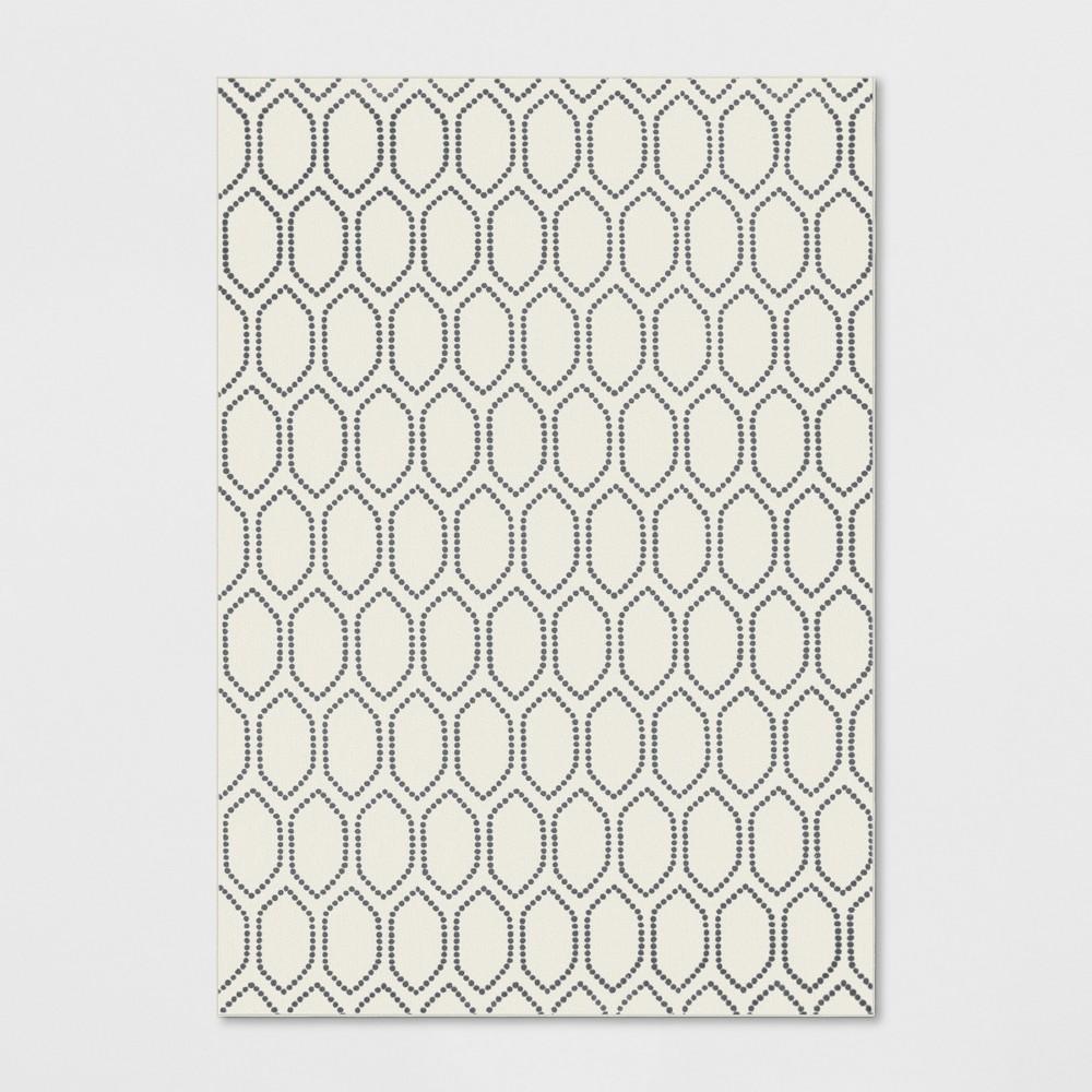 7'X10' Geometric Tufted Area Rugs Ivory - Threshold
