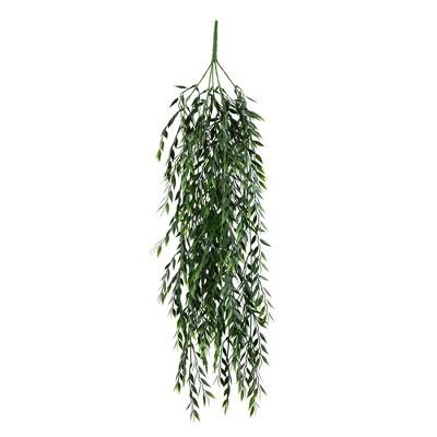 "Vickerman Artificial 30"" Salix Leaf Hanging Bush."