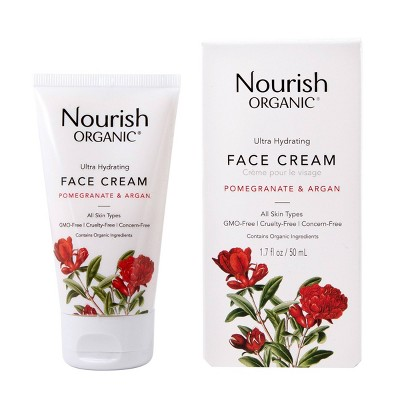Nourish Organic Ultra Hydrating Face Cream - Pomegranate & Argan - 1.7oz