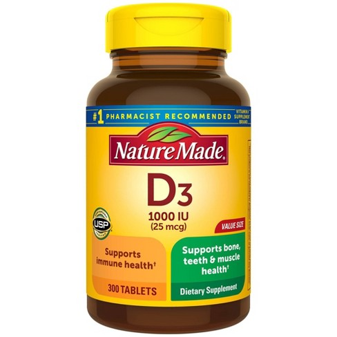 Nature Made Vitamin D3 Dietary Supplement Tablets - image 1 of 4