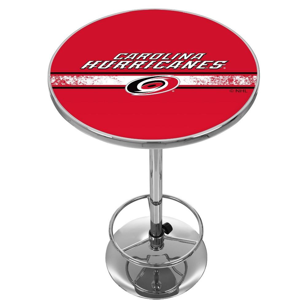 NHL Carolina Hurricanes Chrome Pub Table