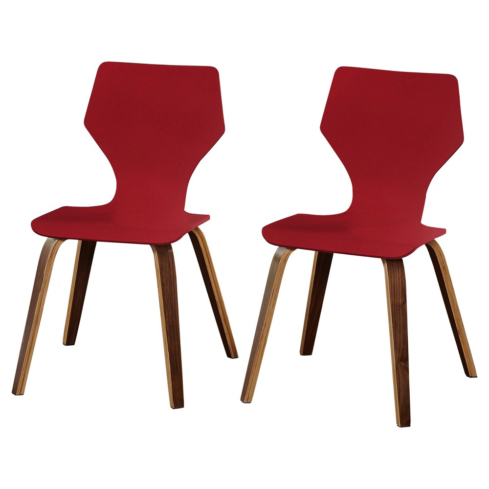 Bari Bentwood Chair (Set of 2) - Red - Angelo:Home