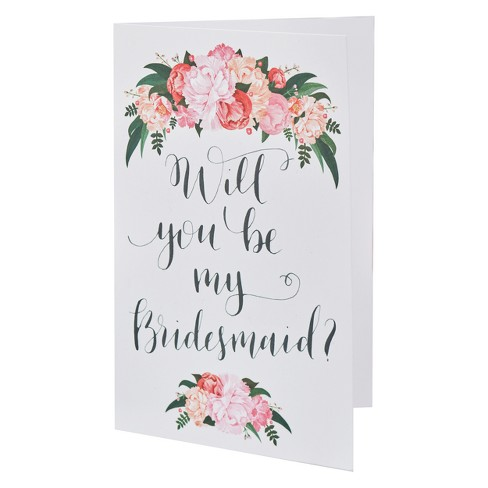 Would You Be My Bridesmaid | 5ct Ginger Ray Will You Be My Bridesmaid Cards Boho Target