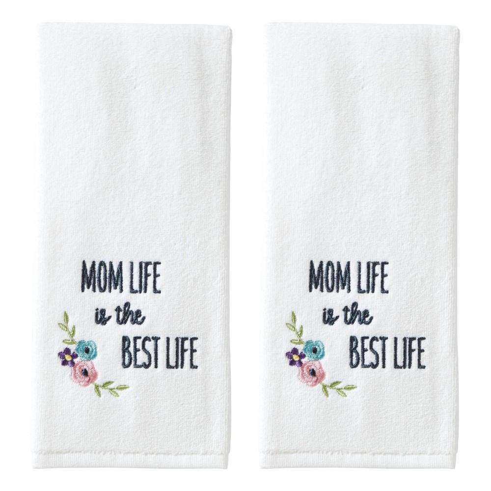 Image of 2pc Mom Life Hand Towel Set White - SKL Home