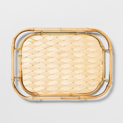 17.5  x 12.5  Bamboo Serving Tray Tan - Opalhouse™