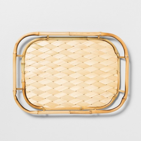 "17.5"" x 12.5"" Bamboo Serving Tray Tan - Opalhouse™ - image 1 of 2"