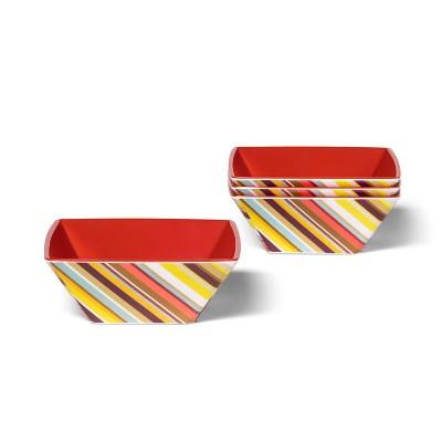 4pk 20.9oz Melamine Cereal Bowl Set Colore Multistripe Print - Missoni for Target