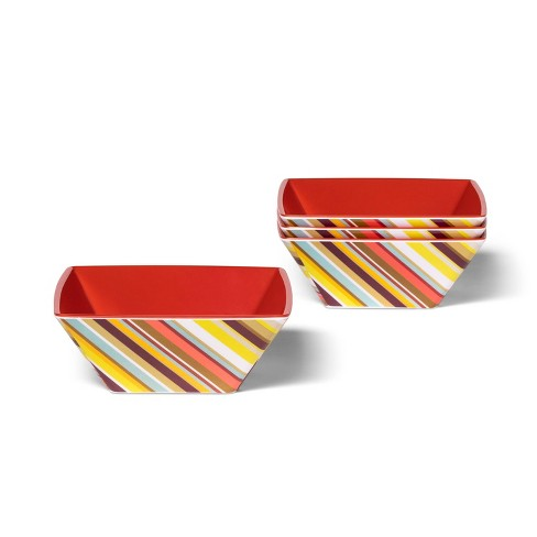 4pk 20.9oz Melamine Cereal Bowl Set Colore Multistripe Print - Missoni for Target - image 1 of 1