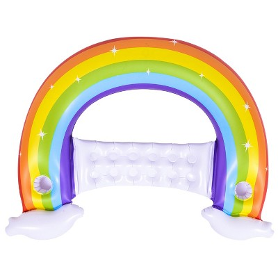 """Pool Central 58"""" Inflatable Rainbow Swimming Pool Lounge Chair"""