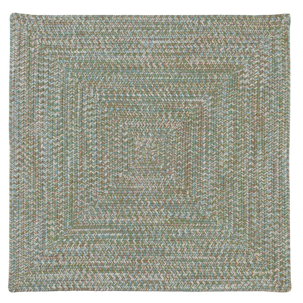 Forest Tweed Square Rug Green
