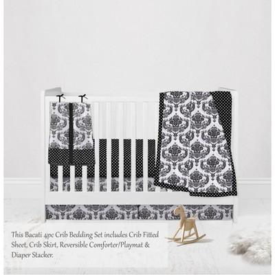 Black White Crib Bedding Target, Red And Black Damask Crib Bedding