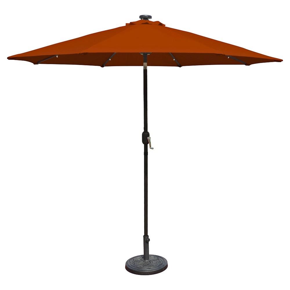 Image of Island Umbrella Mirage Fiesta 9' Market Umbrella in Terra Cotta Olefin, Terracotta