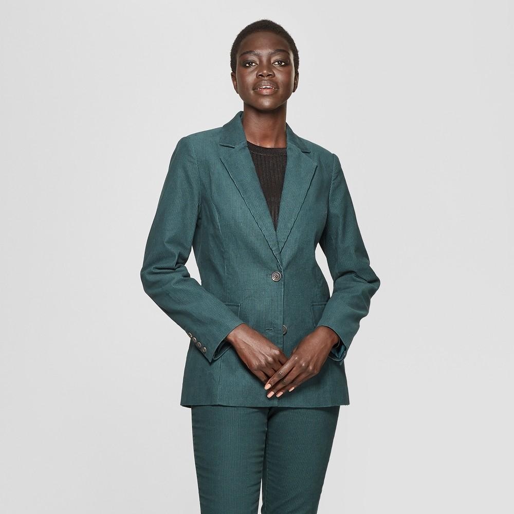 Women's Corduroy Blazer - Who What Wear Green S