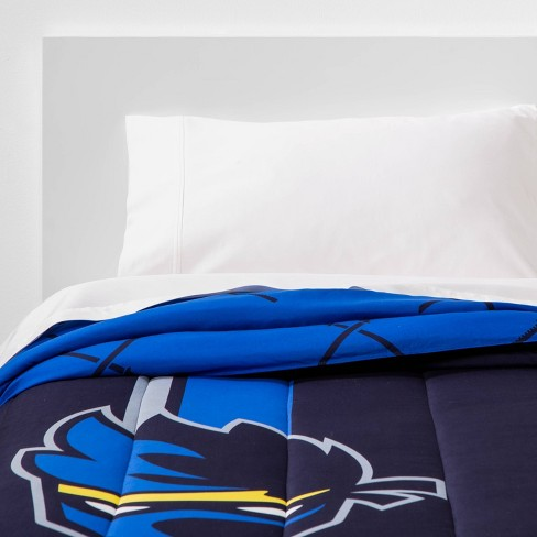 Twin Team Ninja Reversible Comforter Blue - image 1 of 4